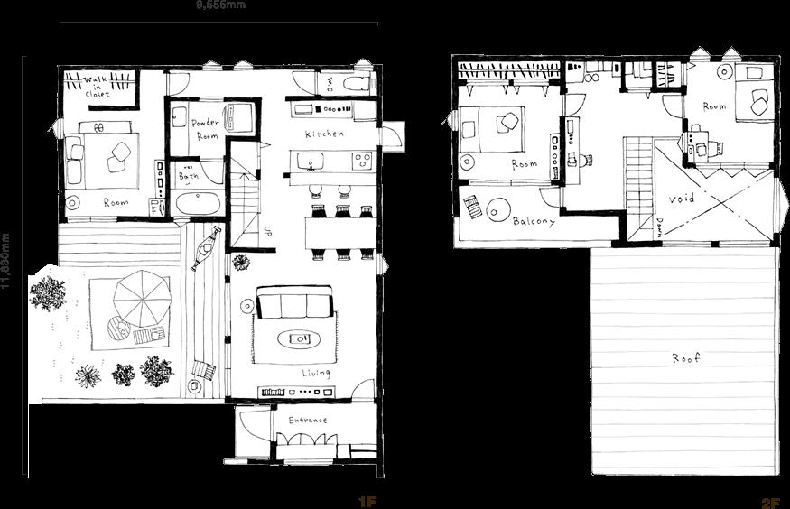 FREAK-HOUSE (3LDKタイプ) 間取り図